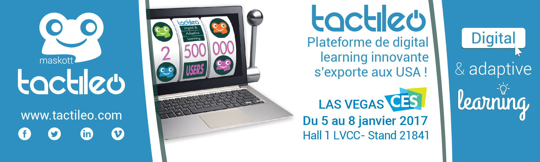 Maskott Tactileo digital learning e-learning CES las vegas innovation innovative